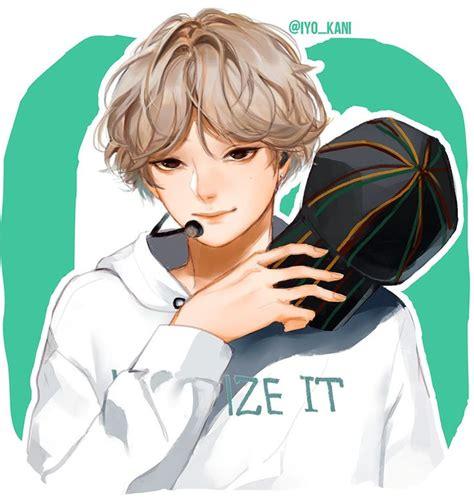 V Anime Fanart by By Iyo Kani Bts Bts Bts Chibi And Bts