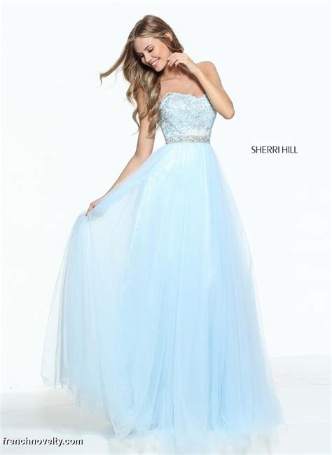 sherri hill beaded prom dress size 14 light blue sherri hill 51045 beaded prom dress