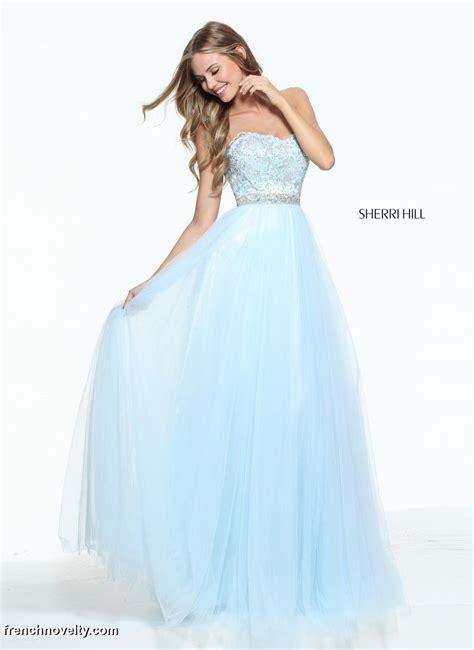 size  light blue sherri hill  beaded prom dress