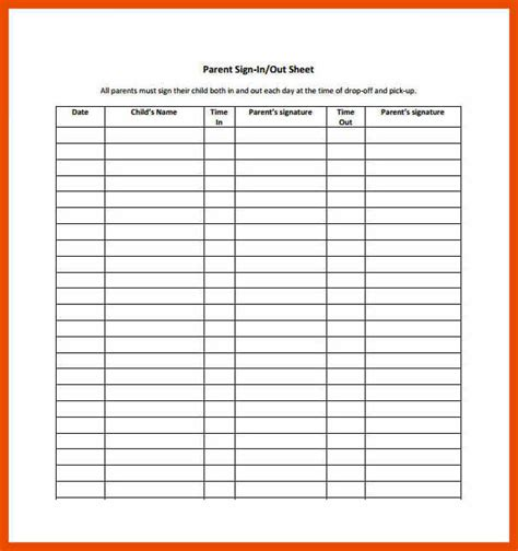 7 8 parent sign in sheet sopexle