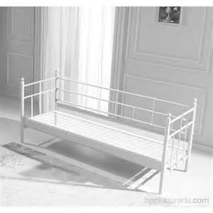 metall sofa unimet lalas metal sofa 90 x 200 beyaz mindersiz fiyat