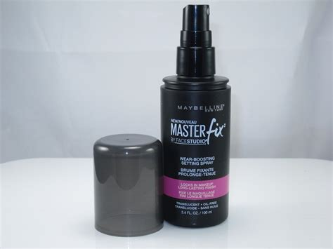 Maybelline Master Fix Setting Spray maybelline master fix wear boosting setting spray review cosmetics