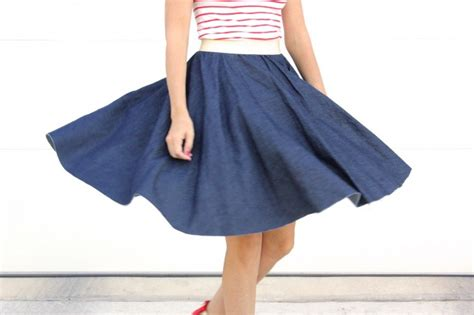 Rok Skirt Denim Circle by Circle Skirts Made Everyday