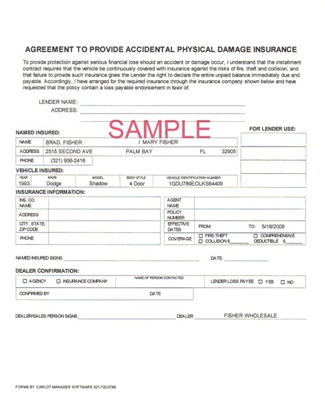 How To Make Car Insurance Papers - car insurance form