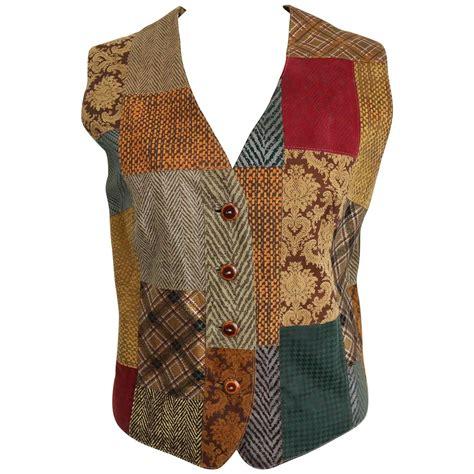 Patchwork Vest - roberto cavalli leather multi patterns patchwork vest for