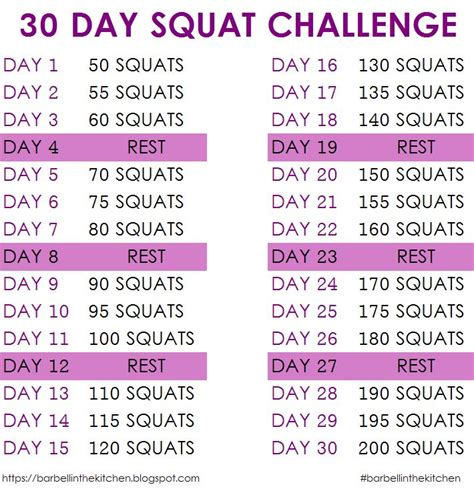 30 day squat challenge for barbell in the kitchen 30 day squat challenge