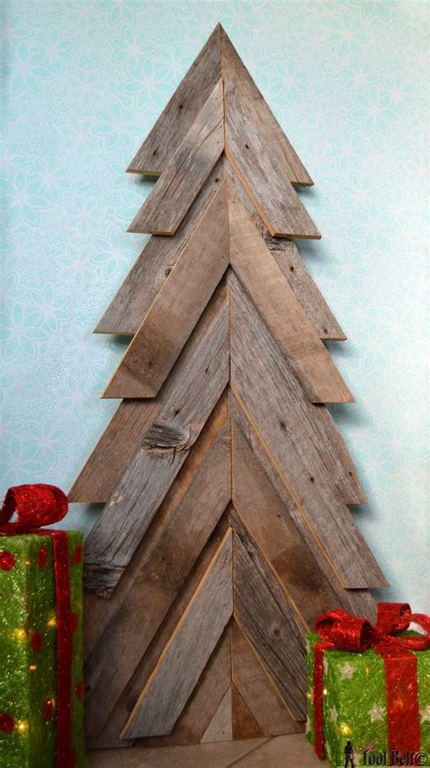 simple xmas wood rustic tree tool belt