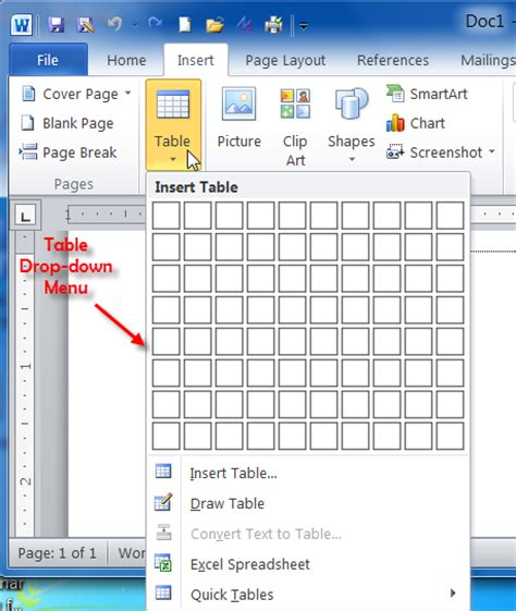how to make drop calendar in html create modify delete table ms word 2010 tutorial
