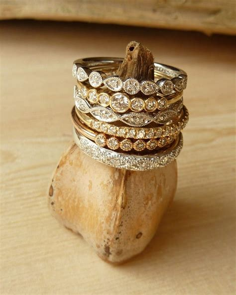 stacked eternity wedding bands 25 best ideas about stacking rings on