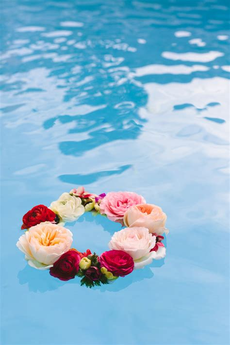 diy floating pool lights make this geometric floating flower wreath paper and stitch