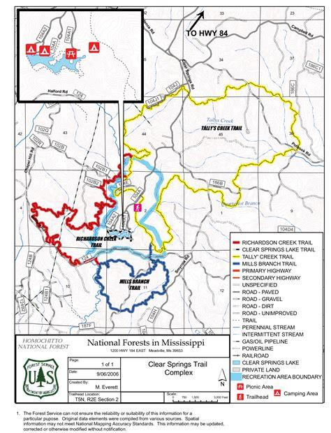 kisatchie louisiana map backbone trail kisatchie national forest map foto