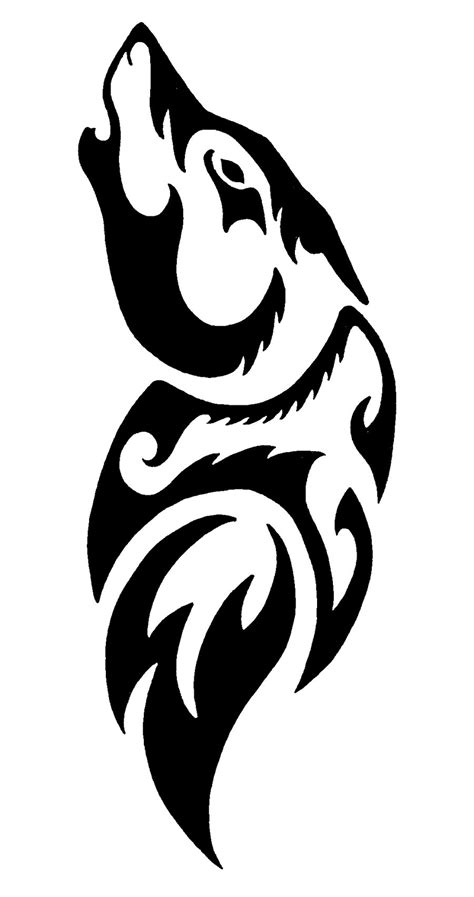 black and white wolf tattoo black and white cliparts co