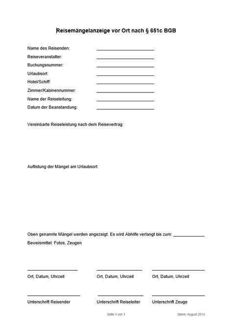 Urlaub Brief Beispiel Reisem 228 Ngel Reklamieren Entsch 228 Digung F 252 R M 228 Ngel Im Urlaub Finanztip