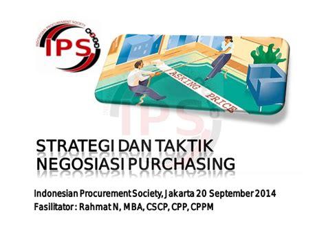 strategi dan taktik negosiasi purchasing 20 september 2014
