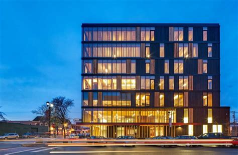 innovative design for a commercial green build in calgary experimental tall wood buildings material mass timber