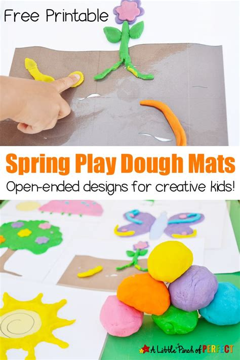 free printable spring playdough mats 21 best playdough learning mats images on pinterest