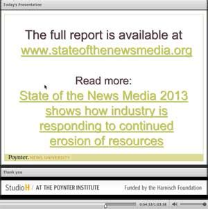 report explains news trends: print jobs down, advertisers