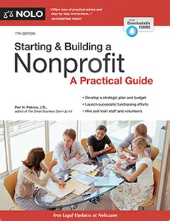 7 Tips For Forming A Non Profit by Starting Building A Nonprofit Book Forms Nolo