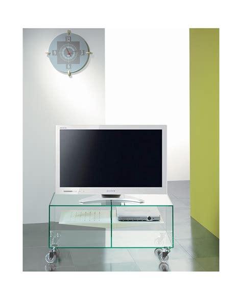 meuble tv en verre tremp 233 sur roulettes e box
