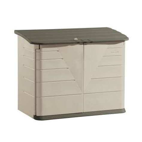 Home Depot Outside Storage Sheds by Rubbermaid 2 Ft X 5 Ft Horizontal Storage Shed Fg3747swolvss The Home Depot