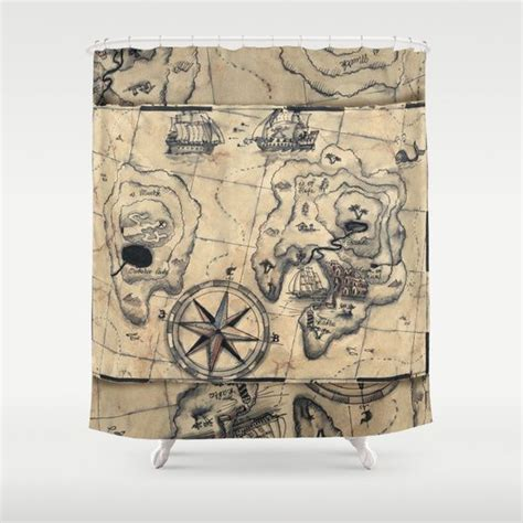 treasure map shower curtain 227 best images about for the home on pinterest paint