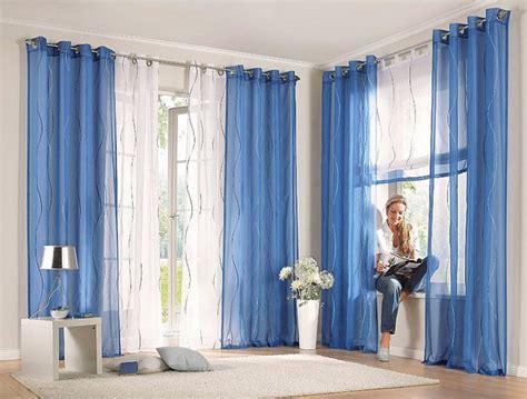 gardinen blau 1 st raffrollo rollo voile 120 x140 wei 223 blau bestickt