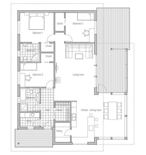 affordable home ch137 floor plans with low cost to build house plans with cost to build affordable home ch137 floor