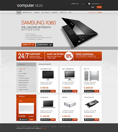 ecommerce website templates for asp net computer online zencart template