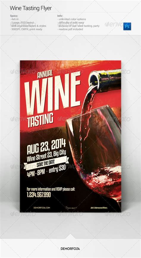 Wine Tasting Flyer Psd Templates Event Flyers And Template Wine Tasting Event Flyer Template Free