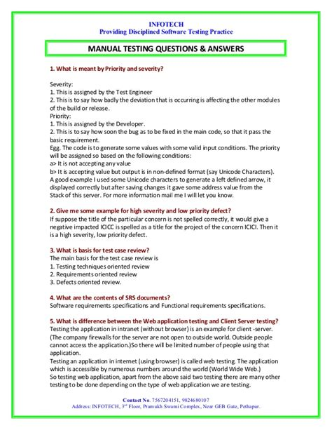 N Question List Manual Testings Question And Answer