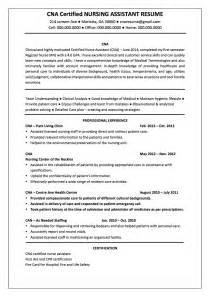 certified nursing assistant resume sle cna resume resume cv cover letter