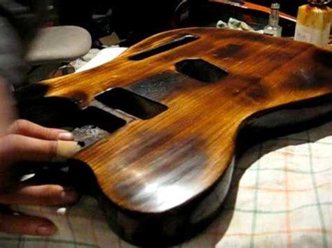 Lackierung Gitarre by Gitarre Schellack Politur Teil1 Youtube