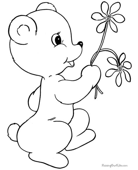 happy valentine s day flowers coloring page free st valentine day coloring pages 019