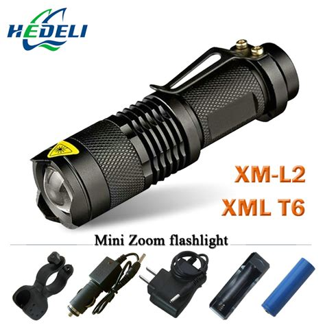Senter Led Cree Lumens Xml2 3800 Lumens aliexpress buy mini led flashlight zoom cree xm l2 xml t6 torch flash light rechargeable
