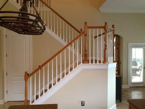 wooden banister rails staircase makeover project in st johns traditional