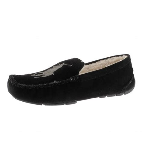ralph lauren house slippers ralph lauren paulson ii slippers in black for men lyst