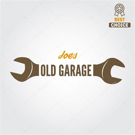 Garage Plans And Prices logo badge emblem and logotype element for mechanic