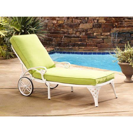 home styles biscayne outdoor chaise lounge chair  cushion walmartcom
