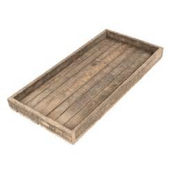 Homestead Decor Homestead Rustic Lodge Reclaimed Wood Long Tray Kathy