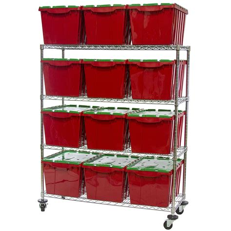 wire shelving with plastic bin storage kit