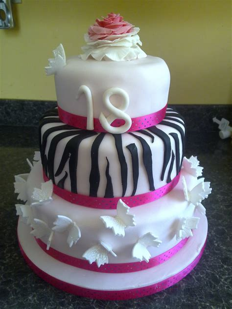 18th Birthday Cakes by Girly 18th Birthday Cake 18th Birthday Cake For A