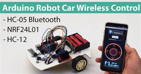 arduino robot car wireless control  hc  bluetooth