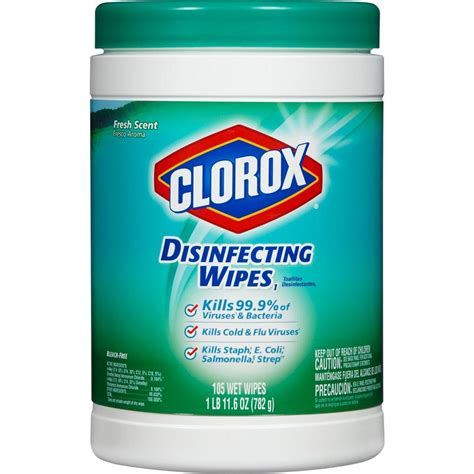 clorox wipes clorox fresh scent disinfecting wipes 105 count 01728 the home depot