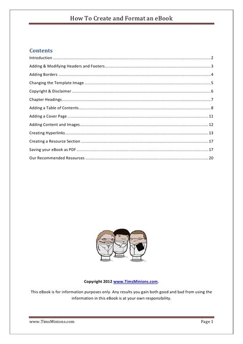 how to write an ebook template how to create and format an e book