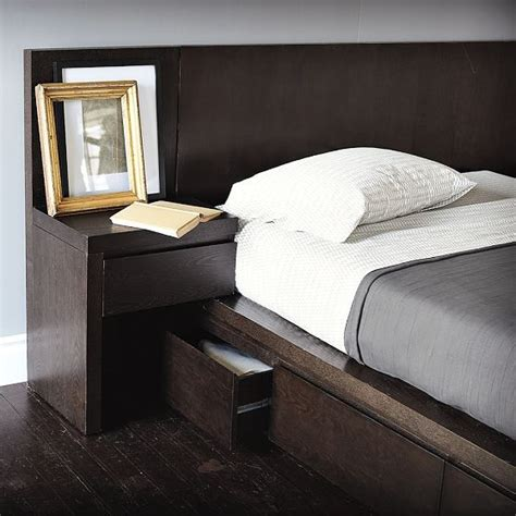 Bedroom Table With Storage Storage Bed Nightstand Modern Nightstands And Bedside
