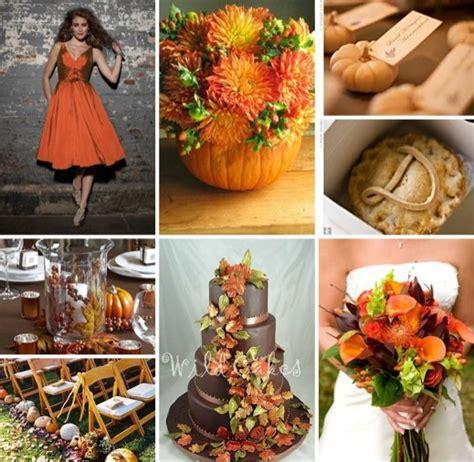 wedding colour themes autumn fall theme wedding colours weddingbee