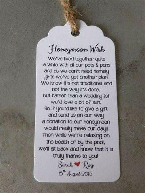 Wedding Registry Honeymoon Fund by 21 Best Monetary Gift Wording Images On