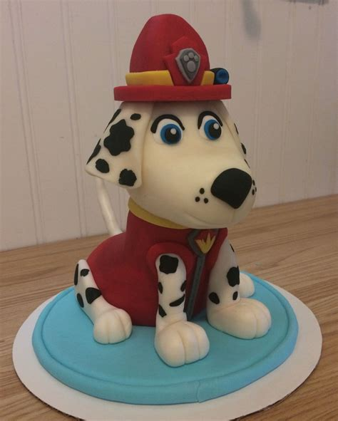 paw patrol cake decorations paw patrol quot marshall quot cake cakecentral