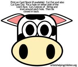 Fil A Cow Mask Template by Cow Crafts For Make Cows With Arts And Crafts