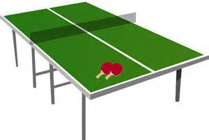 Clipart isometric ping pong table